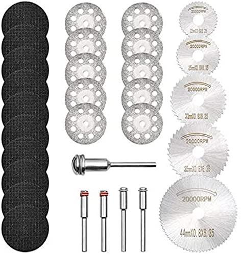 GOXAWEE Mini Diamant Trennscheiben, Mini HSS Sägeblätter, Harz Sägeblatt, 3mm Dorne für Holz Stein Metall Kompatibel für Dremel Multifunktionswerkzeug (30 Stück)