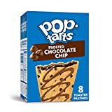Pop-Tarts Toaster Pastries, Breakfast Foods, Baked in the USA, Chocolate Chip Drizzle, 13.5oz Box (8 Toaster Pastries)