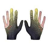 0Miaxudh Guantes de Billar, 1 par Billar de Moda Billar Unisex Tres Dedos Guantes elásticos Lisos 2#