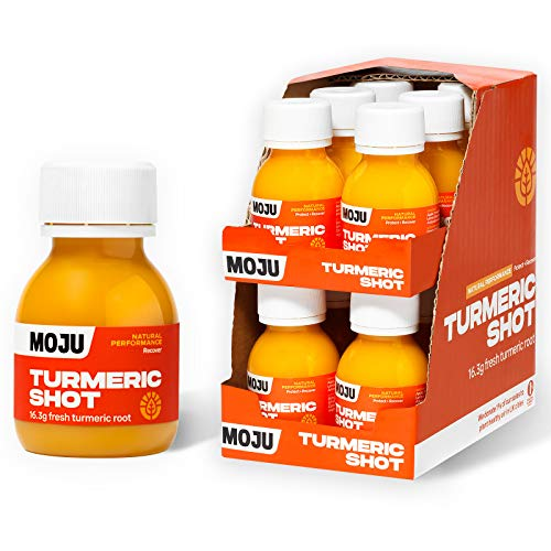 MOJU Turmeric Shots (12x60ml) | 16.3g of Fresh Turmeric Root in Every Shot | Plant Powered Daily Go-To/Post Workout | Whole Ingredients, Nothing Artificial, No Added Sugar | Nature's Anti-Inflammatory