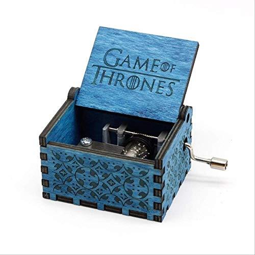 Regalo Carillon Carillon Game of Thrones Manovella in Legno Intagliato Antico Regalo di Natale Regalo di Compleanno Game of Thrones