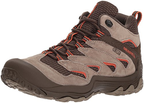 Merrell Women's Chameleon 7 Limit Mid Waterproof Hiking Boot, Brindle, 7 Medium US