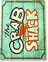 レストランビーチラスティック メタルポスター壁画ショップ看板ショップ看板表示板金属板ブリキ看板情報防水装飾レストラン日本食料品店カフェ旅行用品誕生日新年クリスマスパーティーギフト
