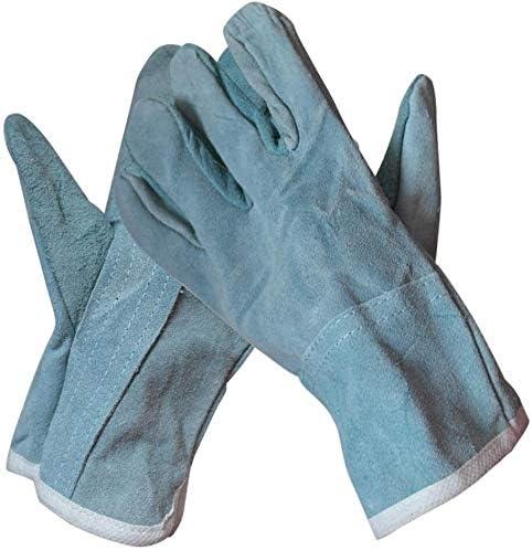 Welding Under blast sales Gloves Heat Award Fire Welders Glove Leather Resistant
