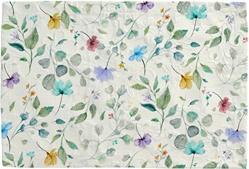 Sander Viola Tischwäsche Blumen Blüten Digitaldruck hochwertig auf Matelasse (Mitteldecke 100x100cm)