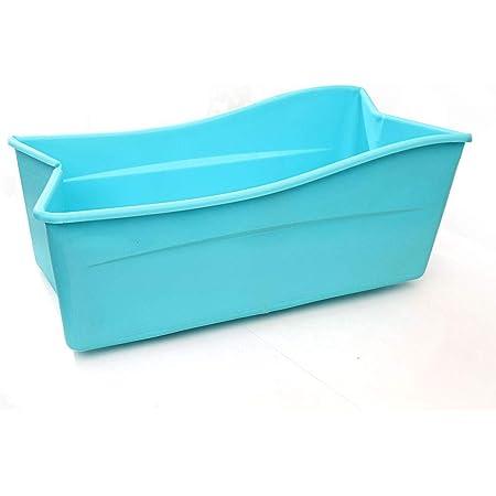 schw/änlein Petite Baignoire Plastique Adulte de Douche Grande Baignoire Mobile Bassin Petite Baignoire pour Adultes 123cm * 51cm Blanc (Non Pliable Non Gonflable)