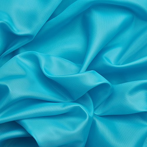 Decoración Tafetán / Tela universal - Muy suave y versátil - Por metro (Azul turquesa)