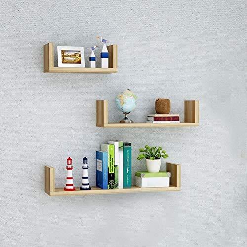 Wandrek, woonkamer, slaapkamer, boekenkast, meerdere lagen, eenvoudige decoratie, modern Light Walnut