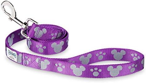 Disney Parks Tails Mickey Mouse Reflective Dog Lead Purple Medium Large product image