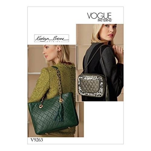 Vogue Patronen 9263 OS,Handtassen, Tissue, Meerkleurig, 15 x 0,5 x 22 cm