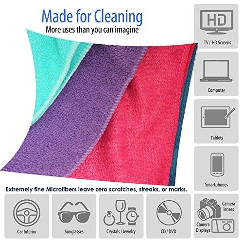 Streak Free Clean Shine Chemische Gratis Microvezel Super Magic Glasreinigingsdoekjes Handdoeken - (Anti-vingerafdruk Grip Palm Embossed Handschoenen Gratis bij elke bestelling)