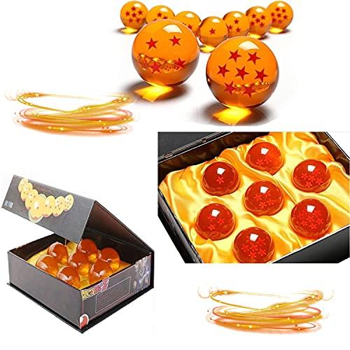7 Bolas de Dragón - 7 PCS Bola de Dragon- Caja con Las 7 Estrellas Bola de Drac - Decoración Regalo Fanático Anime - 4,3 CM Diámetro Acrílico Conservación Ideal