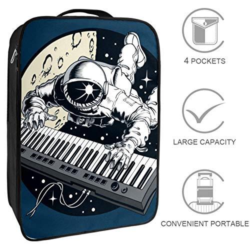 Astronaut Piano Space Schuhbeutel Aufbewahrung großer Beutel tragbar wasserdicht für Frauen und Männer im Fitnessstudio oder im täglichen Gebrauch 23x31x16 cm