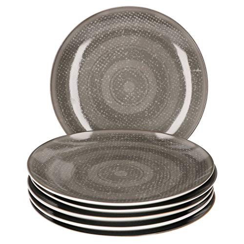 Van Well 6-delige dessertbordset Palma voor 6 personen I taartbord plat I edel porselein I vaatwasmachinebestendig