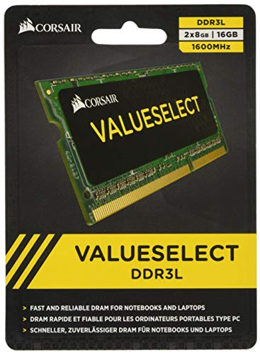 Corsair CMSO16GX3M2C1600C11 Value Select 16GB (2x8GB) DDR3 SODIMM 1600 Mhz CL11