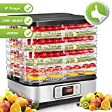 Food Dehydrator Machine, Digital Timer and Temperature Control, 8 Trays - For Beef Jerky Preserving Wild Food and Fruit Vegetable Dryer in Home Kitchen, BPA Free/400 Watt