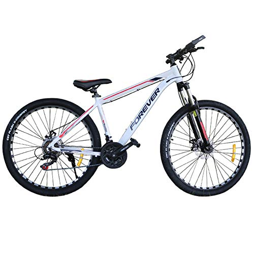 GQFGYYL-QD Mountain Bike with Adjustable Seat and Shock Absorption, Mountain Bicycle with Adjustable Front Handle Height and Dual Disc Brake, 27.5 Inches 21 Speed, for Adults Outdoor Riding