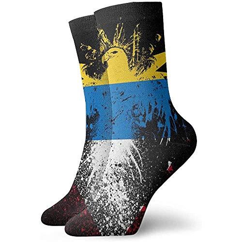 Kevin-Shop Filipijnse vlag en Eagle klassieke bemanning sokken plat gebreid casual Athletic Stoking zacht