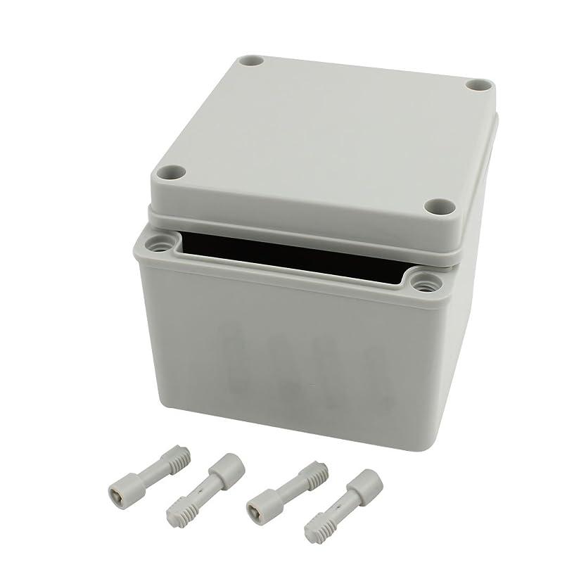 滅多ヤングアイドルuxcell 接続箱 防水ジャンクションボックス 125mm x 125mm x 100mm DIYジャンクションボックス