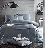 Solido set di colori Tian lettiera del raso/comodo letto copertina / 4 pezzo, gray