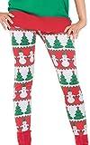 Forum Novelties Women's Snowman and Christmas Tree Adult Leggings, Multi, One Size