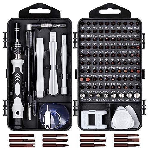 Linhon Feinmechaniker Schraubendreher Set 117 in 1 Neueste S2 Stahl Bits, Mini Präzisions Werkzeug set, Magnetisch Torx Bit für iPhone,Laptop,Tablet,Uhrmacher,Modellbau,Uhren,PC,Brillen