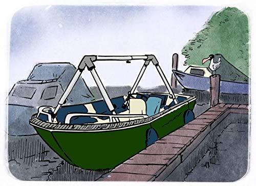 Infradesktrading Größenverstellbarer Planenspanner für Boote Aller Art   Größe L 100-180cm H 50-80cm B 65-120cm   Klicksystem ermöglicht einfache Größenanpassung