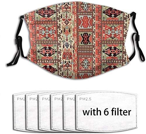 HOLIMION - Alfombra mágica turca para hombre y mujer, ajustable, con 6 filtros, anticontaminación, lavable