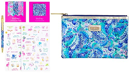 Lilly Pulitzer Agenda Bonus Pack Wave After Wave One Size