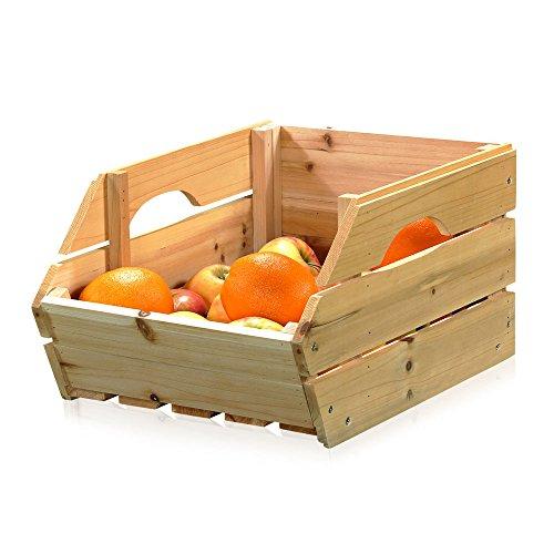 Melko Kartoffelkiste Obstkiste Apfelkisten mit Griffen 38 cm x 27 cm x 20 cm (B x L x H)