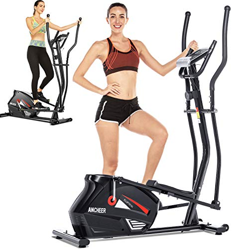 ANCHEER Elliptical,Exercise Equipment,Elliptical Machines for Home Use,Cross Trainer Machine with...
