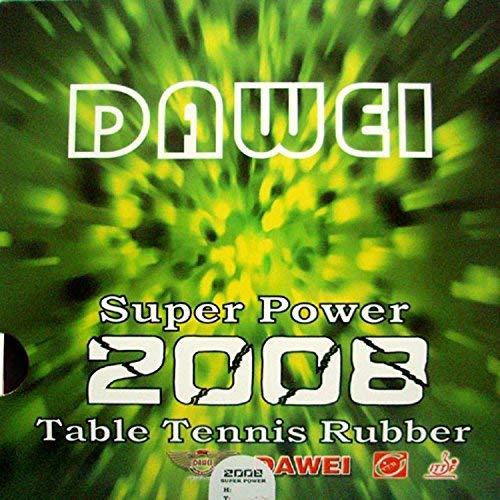 Buy Bargain DAWEI Super Power 2008 Pips in Table Tennis Rubber Sheet (Black 2.2mm 41°)