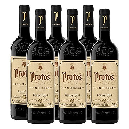 Vino Tinto Protos Gran Reserva de 75 cl - D.O. Ribera del Duero - Bodegas Protos (Pack de 6 botellas)