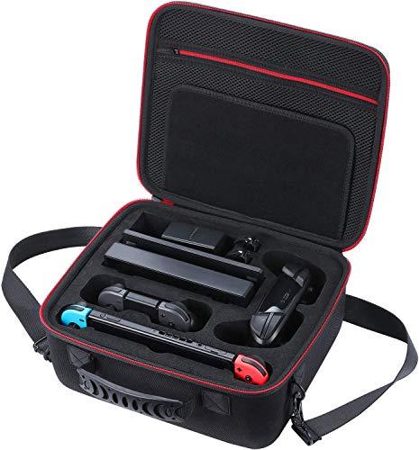 Funda para nintendo switch Estuche rígido, estuche de viaje compatible con el controlador Nintendo Switch Fit Switch Pro, adaptador de CA, agarre Joy-con, correa Joy-con