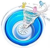 ZZX Lavadora Portátil Plegable, Equipo De Limpieza De Mini Turbina Portátil para Camping, Apartamentos, Dormitorios, Autocaravana, Viajes De Negocios,Blue