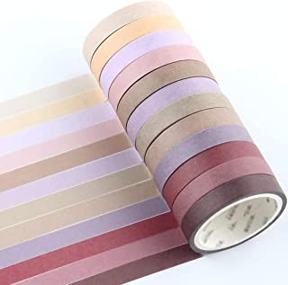 YUBX Maigre Washi Tape Set Masking Tape Ruban adhesif decoratif pour Scrapbooking Artisanat de Bricolage 8MM de large (Red...