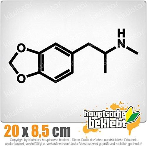 Ecstasy Formel 20 x 8 cm IN 15 FARBEN - Neon + Chrom! Sticker Aufkleber