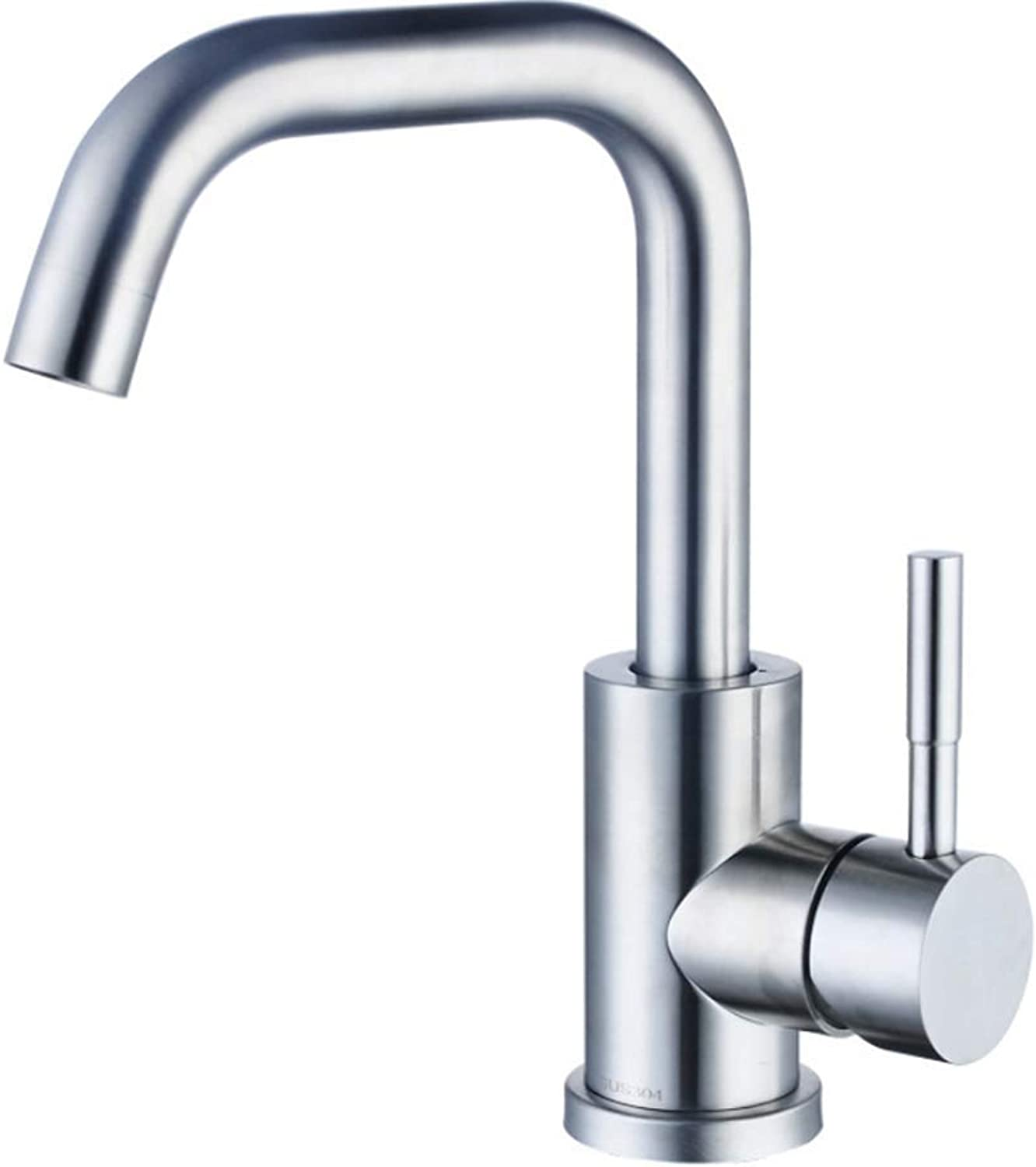 Pull Out The Pull Down Stainless Steelstainless Steel Faucet 304 Washbasin Faucet Kitchen Faucet Hot and Cold Faucet