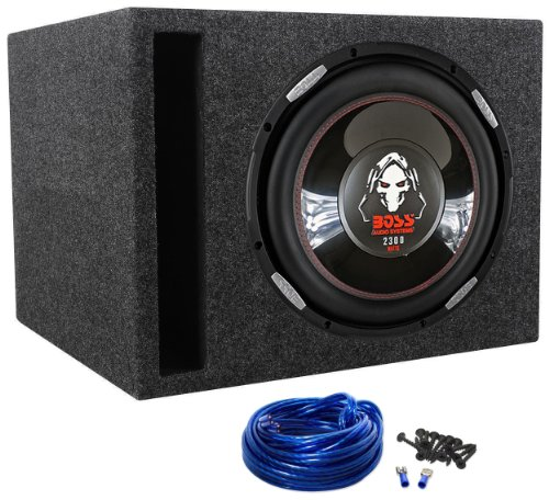 "Boss P126DVC Phantom 12"" 2300w Car Audio Subwoofer + Vented Sub Enclosure Box"