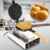 Commercial Electric Waffle Maker, Non Stick Egg Puff Pan Stainless Steel Cake Oven Bread Baking...