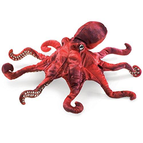Folkmanis 2974 Octopus Handpuppe, rot