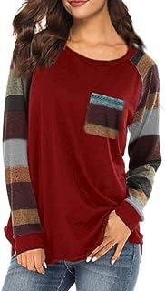 38d85d1ba65867 iZHH Spring Summer Fashion Women Stripe Casual Top T Shirt Ladies Loose  Long Sleeve Tops Blouse