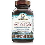 NutriGold Krill Oil Gold, 500 mg, 120 Liquid Capliques