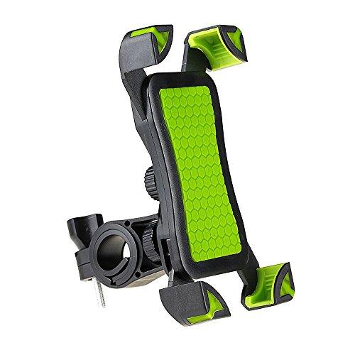 Fayomir Fahrrad Handyhalter Anti-Rutsch - Universal Verstellbar Handyhalter Wiege Mit Schlossknopf Für Smartphones Von 4 bis 7 Zoll (Grün)