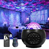 Galaxy Light Projector for Bedroom, Starlight Projector for Ceiling for Kids with Nebula Ocean Wave, Led Star Projector for Adults with Bluetooth Music Sync & Timer for Party/Room Decor/Gift