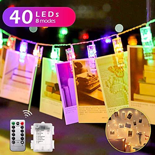 ストリングライト QOMOLO 40Leds 5M LEDイルミネーションライト リモコン付き