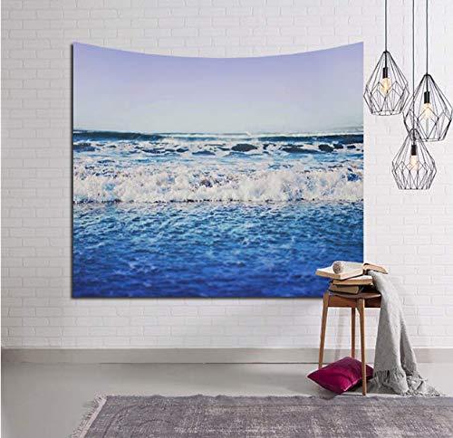 Tapis de plage Sea Hanging Tapisserie Polyester eau de mer Carré Jeter Tapis de Yoga Dormir Voyager Camping Tapisserie 200 * 150Cm