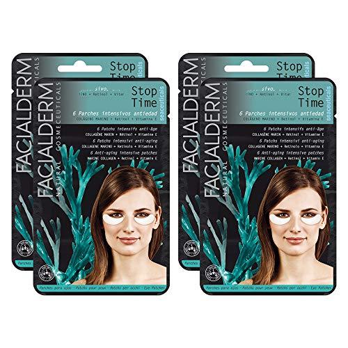 Facialderm - Parches Ojos con Colágeno, Pack 4 x 3 unidades   Parches Antiojeras Colágeno Antiedad