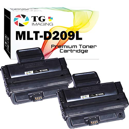 (2 Black Pack) Compatible MLT-D209L Toner Cartridge D209L for use in Samsung ML-2855 SCX-4824 SCX-4826 SCX-4828 Printer, Sold by TG imaging