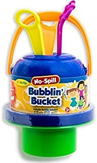 Little Kids No Spill Big Bubble Bucket Outdoor Summer Play Time Childern Sharing Multicolored by Little Kids